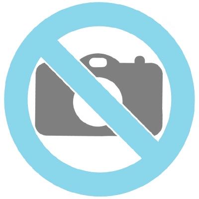 Urne Funéraire en métal rouge avec bandeau en or